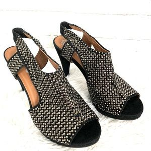 Jeffrey Campbell Labelle Silver studded heels